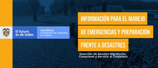 Información para el manejo de emergencias y preparación frente a desastres en Ankara